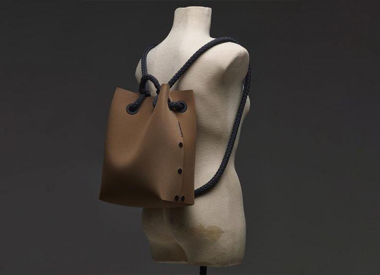 EvaPack Camel Backpack bag by Lommer Design on a Model Doll