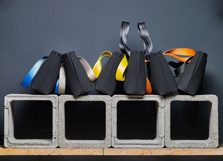 EvaTwo: Black Tote bag by Lommer Design in Editorial Photoshoot